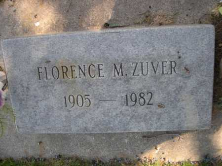ZUVER, FLORENCE M. - Dawes County, Nebraska | FLORENCE M. ZUVER - Nebraska Gravestone Photos