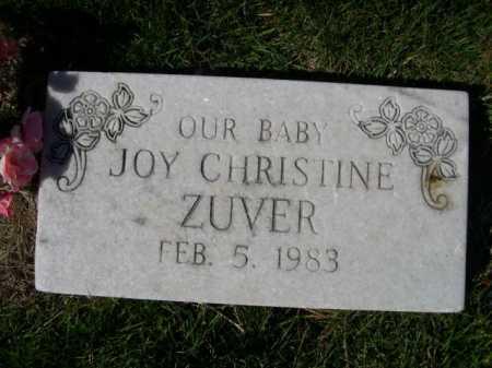 ZUVER, JOY CHRISTINE - Dawes County, Nebraska | JOY CHRISTINE ZUVER - Nebraska Gravestone Photos