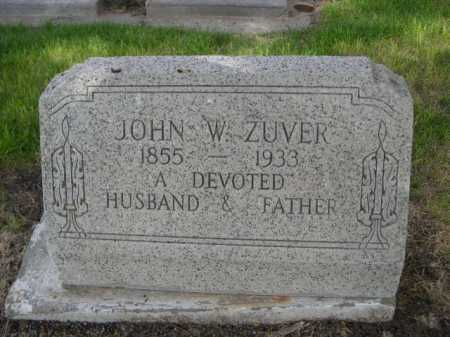 ZUVER, JOHN W. - Dawes County, Nebraska   JOHN W. ZUVER - Nebraska Gravestone Photos