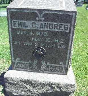 ANDRES, EMIL CHAUNCEY - Dawson County, Nebraska | EMIL CHAUNCEY ANDRES - Nebraska Gravestone Photos