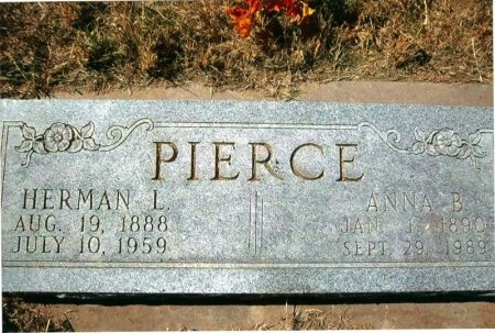 PIERCE, LEANNA (ANNA) BELLE - Dawson County, Nebraska | LEANNA (ANNA) BELLE PIERCE - Nebraska Gravestone Photos