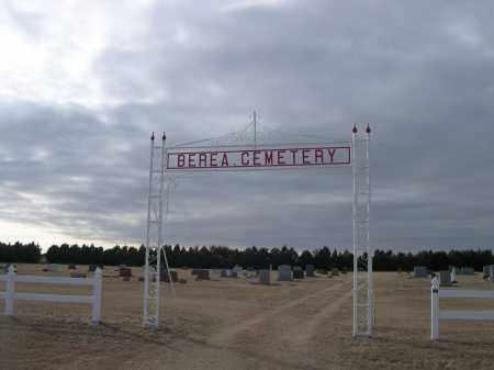 *BEREA CEMETERY, ENTRANCE TO - Deuel County, Nebraska   ENTRANCE TO *BEREA CEMETERY - Nebraska Gravestone Photos