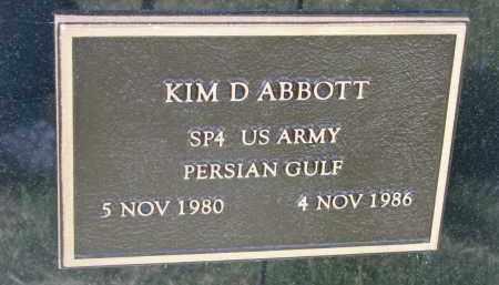 ABBOTT, KIM D. - Dixon County, Nebraska   KIM D. ABBOTT - Nebraska Gravestone Photos