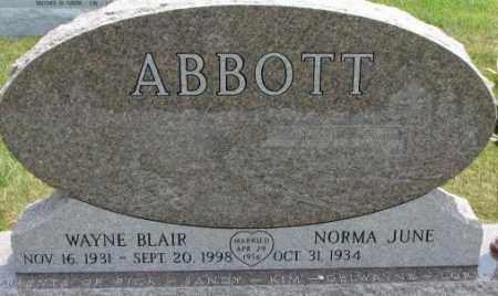 ABBOTT, NORMA JUNE - Dixon County, Nebraska | NORMA JUNE ABBOTT - Nebraska Gravestone Photos