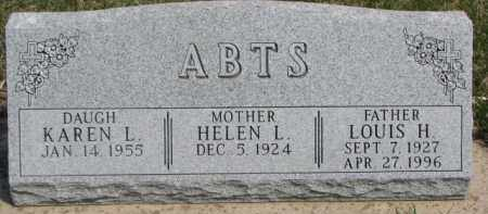 ABTS, LOUIS H. - Dixon County, Nebraska | LOUIS H. ABTS - Nebraska Gravestone Photos
