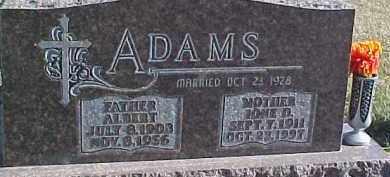 ADAMS, ALBERT - Dixon County, Nebraska | ALBERT ADAMS - Nebraska Gravestone Photos