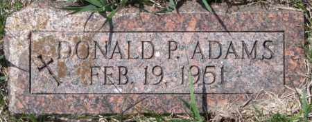 ADAMS, DONALD P. - Dixon County, Nebraska | DONALD P. ADAMS - Nebraska Gravestone Photos