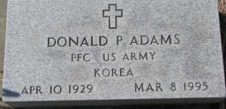 ADAMS, DONALD P. (MILITARY MARKER) - Dixon County, Nebraska | DONALD P. (MILITARY MARKER) ADAMS - Nebraska Gravestone Photos