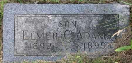 ADAMS, ELMER C. - Dixon County, Nebraska | ELMER C. ADAMS - Nebraska Gravestone Photos