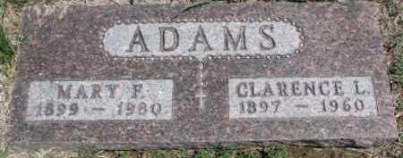 ADAMS, CLARENCE L. - Dixon County, Nebraska   CLARENCE L. ADAMS - Nebraska Gravestone Photos