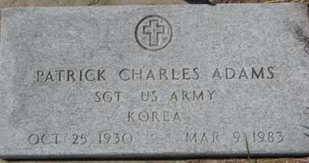 ADAMS, PATRICK CHARLES (MILITARY MARKER) - Dixon County, Nebraska | PATRICK CHARLES (MILITARY MARKER) ADAMS - Nebraska Gravestone Photos