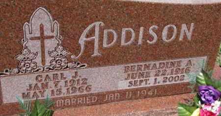 ADDISON, CARL J. - Dixon County, Nebraska | CARL J. ADDISON - Nebraska Gravestone Photos