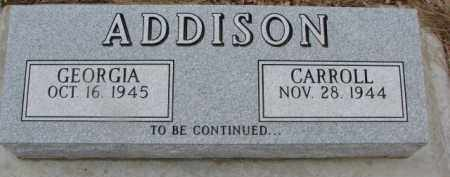ADDISON, GEORGIA - Dixon County, Nebraska | GEORGIA ADDISON - Nebraska Gravestone Photos