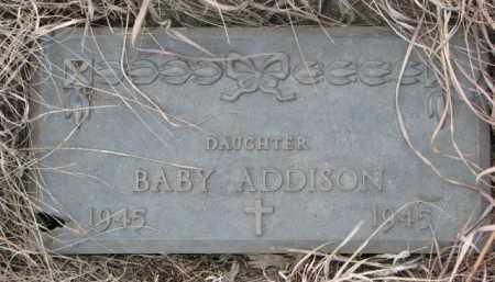 ADDISON, INFANT - Dixon County, Nebraska   INFANT ADDISON - Nebraska Gravestone Photos