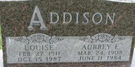 ADDISON, LOUISE - Dixon County, Nebraska   LOUISE ADDISON - Nebraska Gravestone Photos