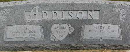 ADDISON, LARRY D. - Dixon County, Nebraska | LARRY D. ADDISON - Nebraska Gravestone Photos