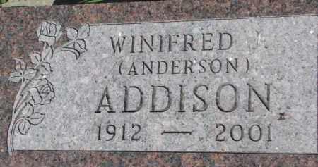 ADDISON, WINIFRED - Dixon County, Nebraska   WINIFRED ADDISON - Nebraska Gravestone Photos