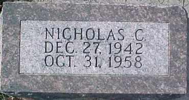 AEVERMAN, NICHOLAS C. - Dixon County, Nebraska | NICHOLAS C. AEVERMAN - Nebraska Gravestone Photos