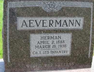AEVERMANN, HERMAN - Dixon County, Nebraska | HERMAN AEVERMANN - Nebraska Gravestone Photos
