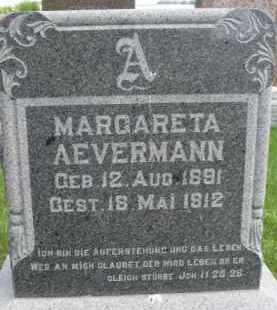 AEVERMANN, MARGARETA - Dixon County, Nebraska | MARGARETA AEVERMANN - Nebraska Gravestone Photos
