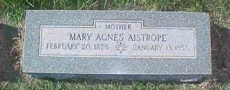 AISTROPE, MARY AGNES - Dixon County, Nebraska | MARY AGNES AISTROPE - Nebraska Gravestone Photos