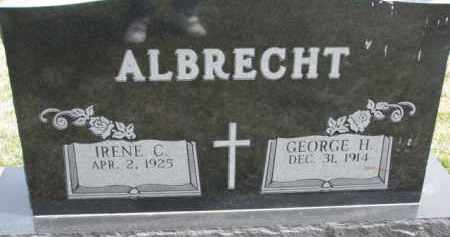 ALBRECHT, IRENE C. - Dixon County, Nebraska | IRENE C. ALBRECHT - Nebraska Gravestone Photos