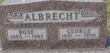 ALBRECHT, GEORGE - Dixon County, Nebraska | GEORGE ALBRECHT - Nebraska Gravestone Photos