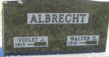 ALBRECHT, WALTER G. - Dixon County, Nebraska | WALTER G. ALBRECHT - Nebraska Gravestone Photos