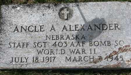 ALEXANDER, ANCLE A. (WW II MARKER) - Dixon County, Nebraska   ANCLE A. (WW II MARKER) ALEXANDER - Nebraska Gravestone Photos