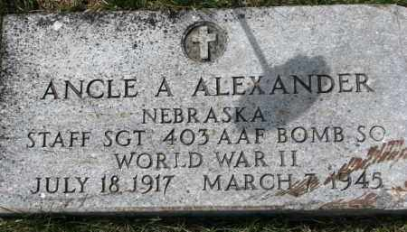 ALEXANDER, ANCLE A. (WW II MARKER) - Dixon County, Nebraska | ANCLE A. (WW II MARKER) ALEXANDER - Nebraska Gravestone Photos