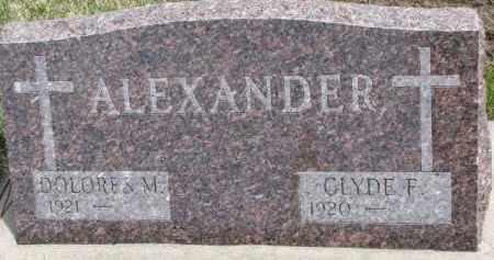 ALEXANDER, CLYDE F. - Dixon County, Nebraska   CLYDE F. ALEXANDER - Nebraska Gravestone Photos