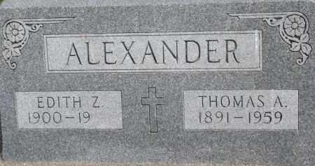 ALEXANDER, THOMAS A. - Dixon County, Nebraska   THOMAS A. ALEXANDER - Nebraska Gravestone Photos