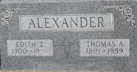 ALEXANDER, EDITH Z. - Dixon County, Nebraska | EDITH Z. ALEXANDER - Nebraska Gravestone Photos