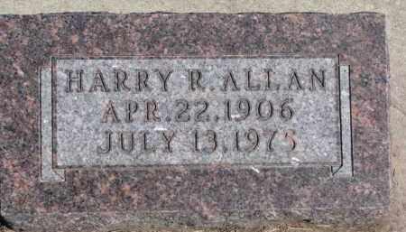 ALLAN, HARRY R. - Dixon County, Nebraska | HARRY R. ALLAN - Nebraska Gravestone Photos