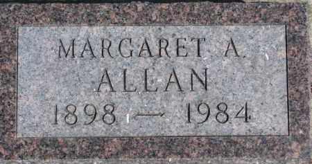 ALLAN, MARGARET A. - Dixon County, Nebraska | MARGARET A. ALLAN - Nebraska Gravestone Photos