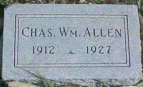 ALLEN, CHARLES WILLIAM - Dixon County, Nebraska   CHARLES WILLIAM ALLEN - Nebraska Gravestone Photos