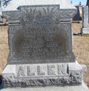 ALLEN, ELIZABETH - Dixon County, Nebraska | ELIZABETH ALLEN - Nebraska Gravestone Photos