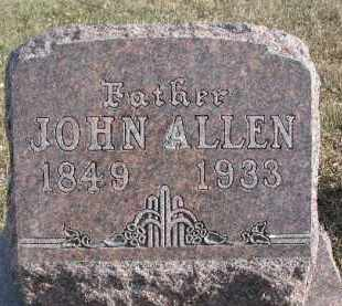 ALLEN, JOHN - Dixon County, Nebraska | JOHN ALLEN - Nebraska Gravestone Photos
