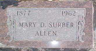 SURBER ALLEN, MARY D. - Dixon County, Nebraska | MARY D. SURBER ALLEN - Nebraska Gravestone Photos