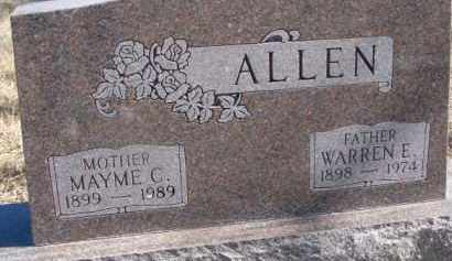 ALLEN, MAYME C. - Dixon County, Nebraska | MAYME C. ALLEN - Nebraska Gravestone Photos
