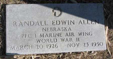 ALLEN, RANDALL EDWIN - Dixon County, Nebraska | RANDALL EDWIN ALLEN - Nebraska Gravestone Photos