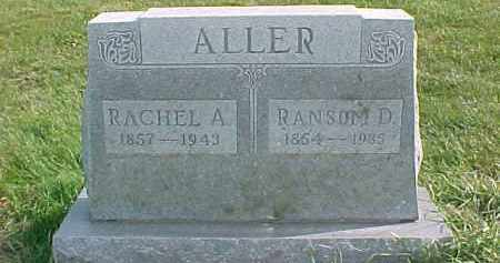 ALLER, RACHEL A. - Dixon County, Nebraska | RACHEL A. ALLER - Nebraska Gravestone Photos