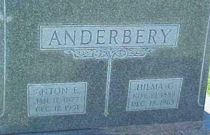 ANDERBERY, ANTON E. - Dixon County, Nebraska | ANTON E. ANDERBERY - Nebraska Gravestone Photos