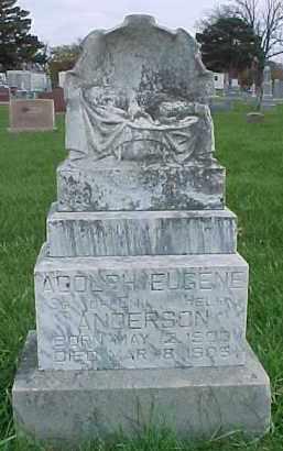 ANDERSON, ADOLPH EUGENE - Dixon County, Nebraska | ADOLPH EUGENE ANDERSON - Nebraska Gravestone Photos