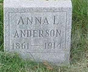 ANDERSON, ANNA L. - Dixon County, Nebraska | ANNA L. ANDERSON - Nebraska Gravestone Photos