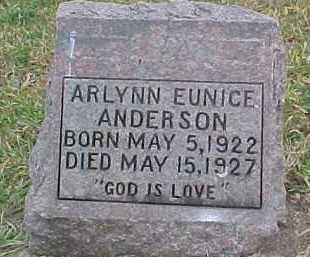 ANDERSON, ARLYNN EUNICE - Dixon County, Nebraska   ARLYNN EUNICE ANDERSON - Nebraska Gravestone Photos