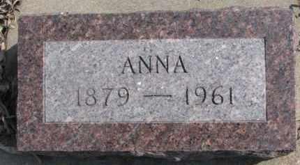 ANDERSON, ANNA - Dixon County, Nebraska   ANNA ANDERSON - Nebraska Gravestone Photos