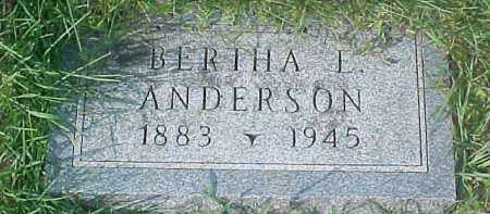 ANDERSON, BERTHA L. - Dixon County, Nebraska   BERTHA L. ANDERSON - Nebraska Gravestone Photos