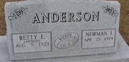 ANDERSON, BETTY E. - Dixon County, Nebraska | BETTY E. ANDERSON - Nebraska Gravestone Photos