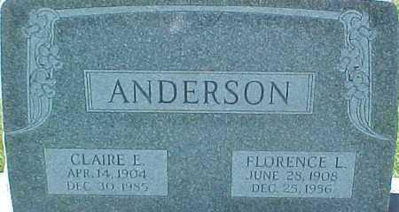 ANDERSON, FLORENCE L. - Dixon County, Nebraska | FLORENCE L. ANDERSON - Nebraska Gravestone Photos